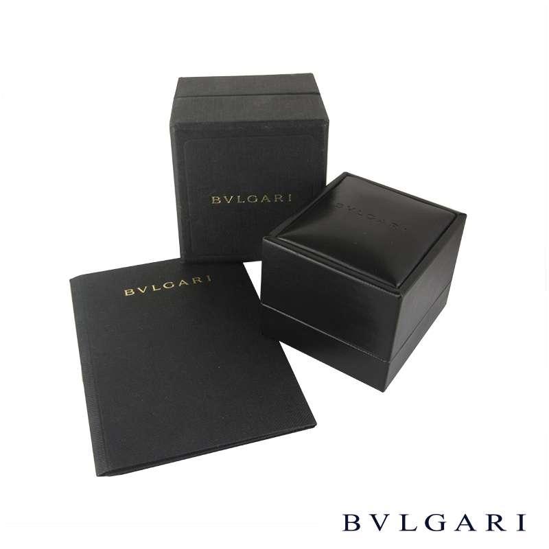 Bvlgari 18k Yellow Gold Round Brillinat Cut Diamond Ring 1.01ct D/VVS1